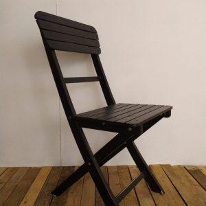 Chaise Noire Pliante