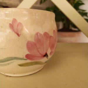 Cache Pot Fleurs Roses