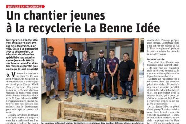 Article Est Rep - Chantier Jeunes